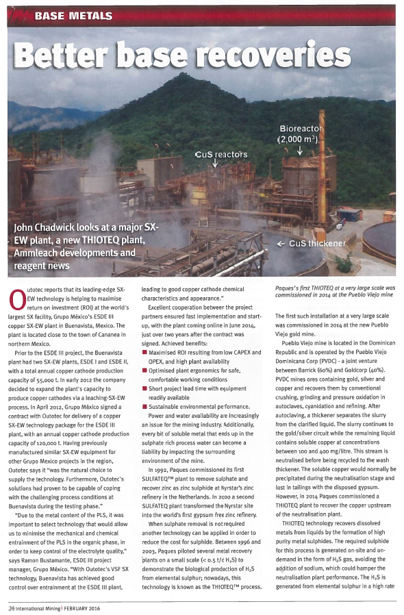 International Mining - feb 2016 - first page